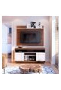 Rack Com Painel Para Tv Até 47 Polegadas Yara Nogueira E Off White 136 Cm
