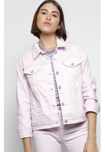 Jaqueta Em Sarja Com Bolsos - Rosa Clarolevis