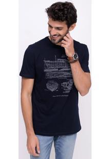 Camiseta Com Estampa Em Meia Malha