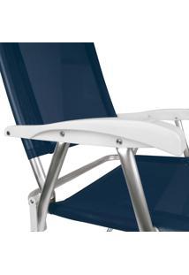 Cadeira Master Plus Alumínio Azul