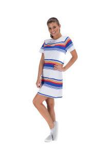Vestido Fila Summer Stripe - Adulto - Branco