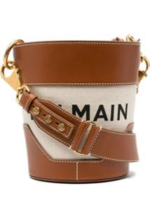 Balmain Bolsa Bucket Saddler - Neutro