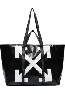 Off-White Bolsa Tote Commercial - Preto