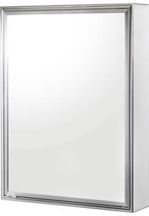 Armário Em Alumínio Para Banheiro De Sobrepor Com 1 Porta Cromado