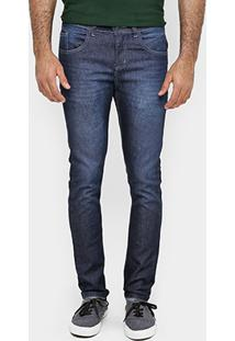 Calça Local Slim Fit Escura - Masculino-Jeans
