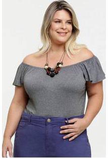 Body Feminino Ombro A Ombro Babado Plus Size