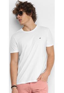 Camiseta Ellus Cotton Fine Asa Classic Masculina - Masculino-Branco