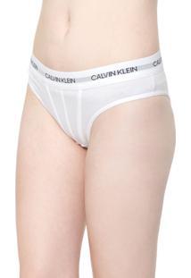 Calcinha Calvin Klein Underwear Tanga Statement Path Branca