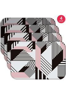Jogo Americano Love Decor Wevans Geometric Kit Com 4 Pçs