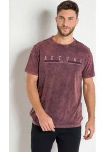 Camiseta Actual Marmorizada Com Estampa