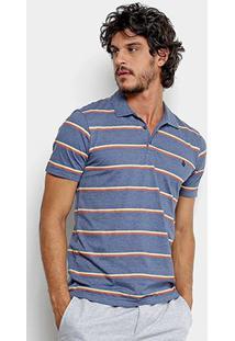 Camisa Polo Volcom Sheldon Masculina - Masculino-Azul