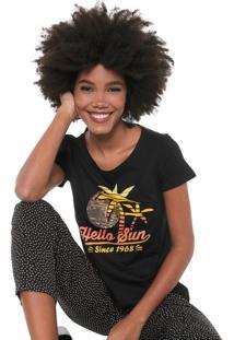 Camiseta Malwee Estampada Preta