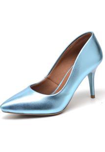 Scarpin Salto Fino Ellas Online Azul
