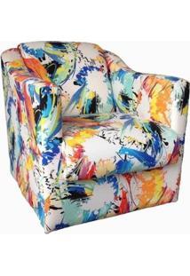 Poltrona Decorativa Tilla Tecido Color - Nay Estofados