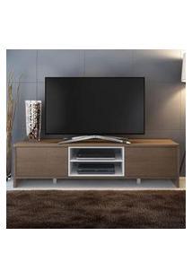 Rack Para Tv Até 75 Polegadas Madesa Metz 180 Cm 2 Portas Rustic/Branco