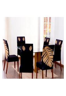 Kit 6 Capas Para Cadeira Jantar Malha Elástico Paris Est.2