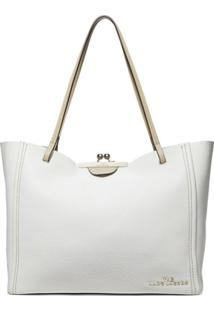 Marc Jacobs Bolsa Tote The Kiss Lock Color Block - Branco