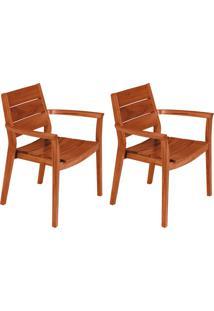 Conjunto Com 2 Cadeiras Para Área Externa Ii Toscana Marrom