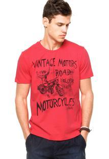 Camiseta Manga Curta Colcci Slim Vermelha