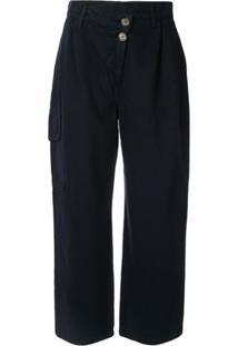 Nobody Denim Calça Pantalona Com Pregas - Azul