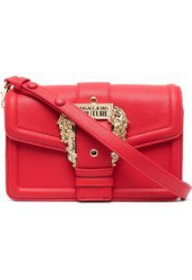 Versace Jeans Couture Logo-Buckle Shoulder Bag - Vermelho
