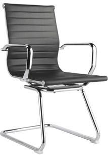 Cadeira Office Sevilha Fixa Baixa Preta Rivatti Móveis