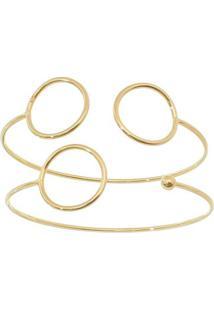 Conjunto De Braceletes Folheado A Ouro- Dourado- 2Pçcarolina Alcaide