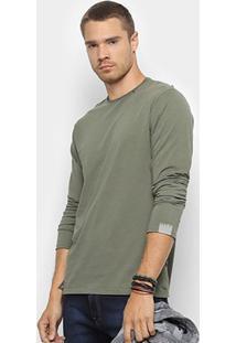 Camiseta Replay Circular Masculina - Masculino-Verde Militar