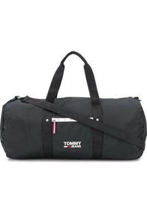 Tommy Hilfiger Mala De Mão Com Estampa De Logo - Preto