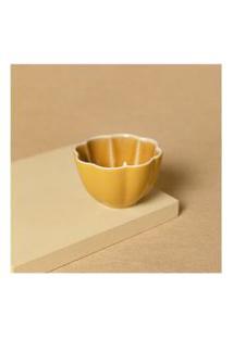 Vaso Em Cerâmica Cor: Amarelo - Tamanho: Único