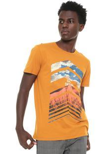 Camiseta Triton Estampado Amarela