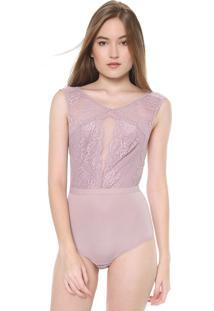 Body Calvin Klein Underwear Renda Rosa - Kanui