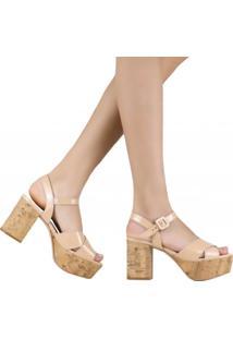 Sandália Zariff Shoes Meia Pata Salto Grosso