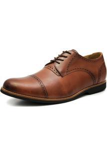 Sapato Social Shoes Grand Veneza Tamanho Especial Caramelo