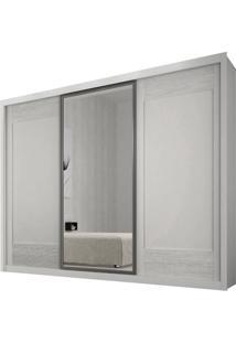 Guarda-Roupa Ravena Com Espelho - 3 Portas - 100% Mdf - Branco