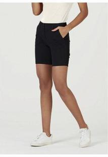 Bermuda Hering De Sarja Com Modelagem Chino Feminina - Feminino