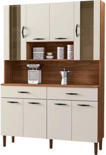 Cozinha Compacta Kit'S Paraná Golden, Nogueira E Off White