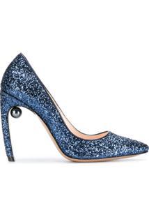 Nicholas Kirkwood Scarpin 'Mira' - Azul