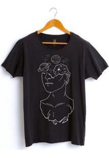 Camiseta Estonada Corte À Fio Joss Loren Masculina - Masculino