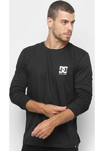 Camiseta Dc Shoes Basic Star Manga Longa Masculina - Masculino