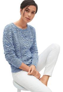 Suéter Gap Tricot Texturizado Azul/Branco
