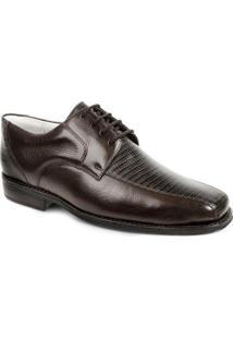 Sapato Social Derby Sandro Moscoloni Bolton Masculino - Masculino-Marrom Escuro