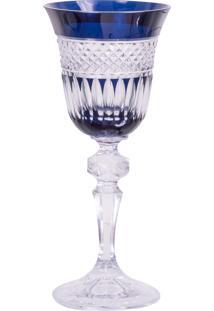 Taça De Cristal Lodz Para Licor Ii De 60Ml – Azul