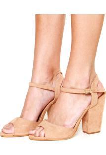 Sandália Dafiti Shoes Acamurçada Bege