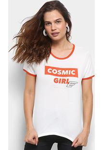 Camiseta Ellus Cosmic Girl Retrô Feminina - Feminino