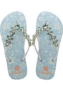 678d155bee Zattini Chinelo Broche Metálico Sapato Show 01801172 - Feminino-Azul  Turquesa. Ir para a loja  -18% Chinelo Mandala Cristal Turquesa