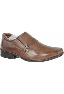 Sapato Social Confort Ranster Premium - Masculino-Marrom
