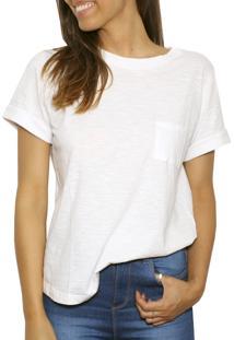 Camiseta Tea Shirt Basic Bolso Branca
