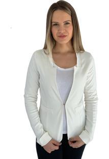 Blazer Aero Jeans Alfaiataria Branco