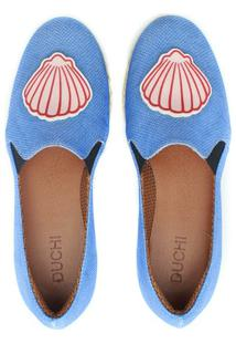 Alpargata Duchi Patch Concha Ocean Feminina - Feminino-Azul
